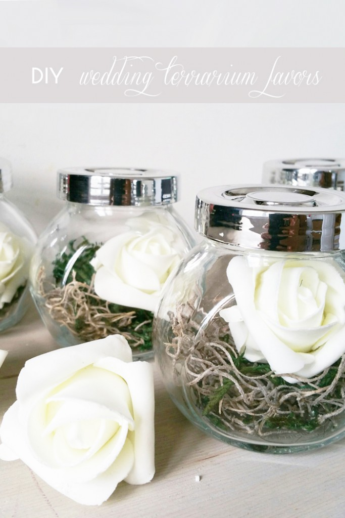 DIY Wedding Terrarium Favors Place Card Holder 5