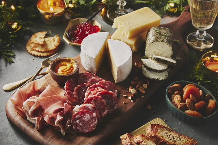 Cheese Charcuterie and Condiment Board