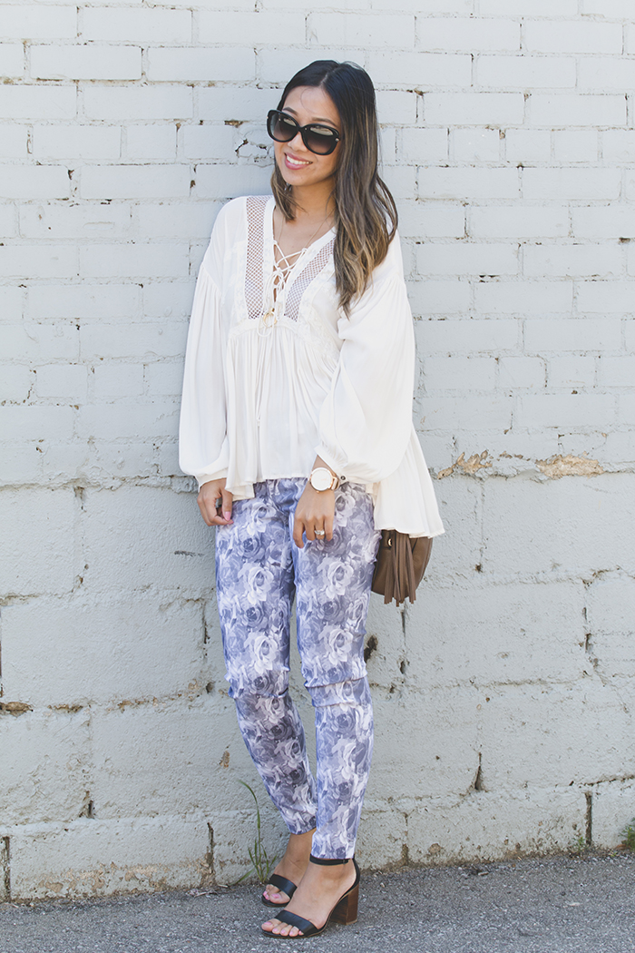 Floral Pants and Blouse Outfit