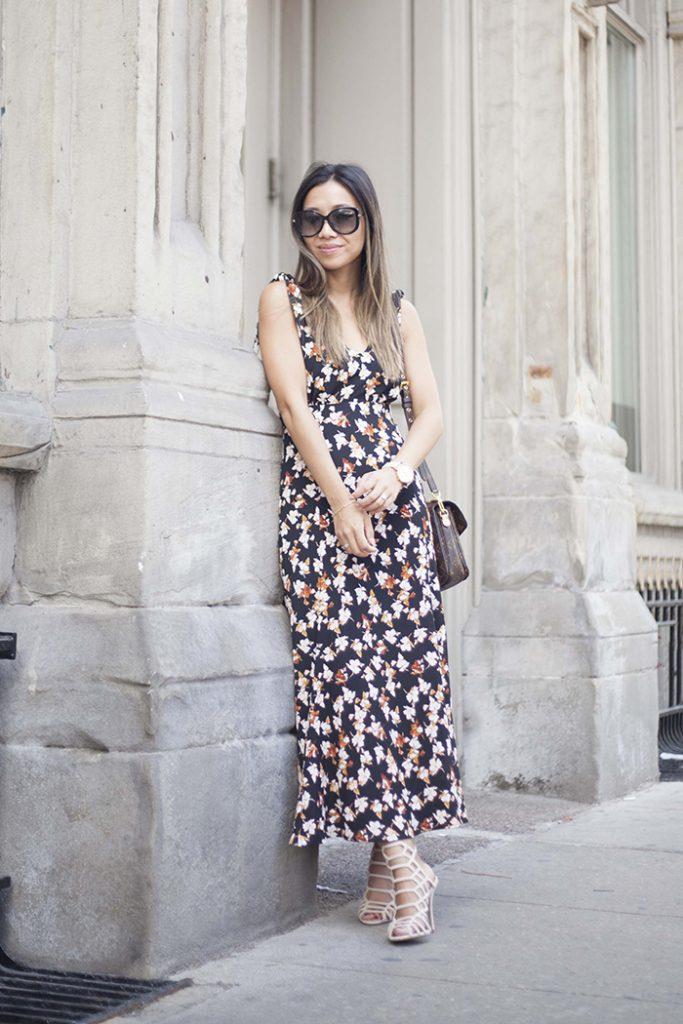Floral Dress Cage Sandals