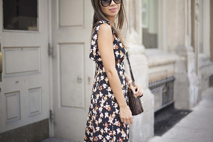 Floral Dress Louis Vuitton Pouchette Matis