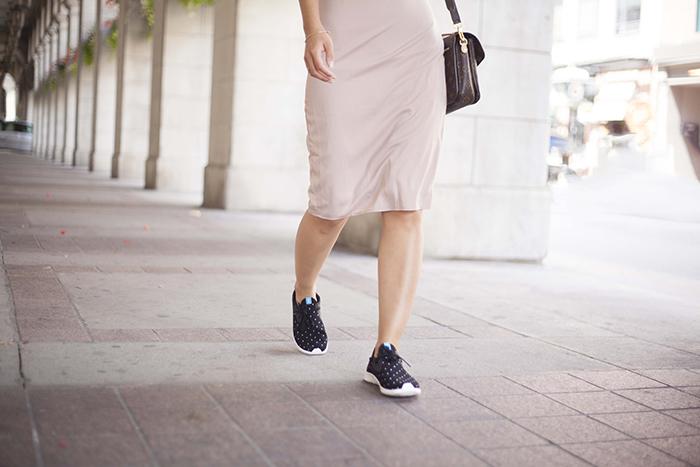 Shoeme Native Polka dot sneakers and Dress