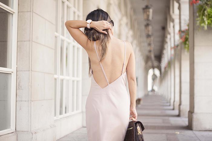 Shop Tobi Backless Nude Dress