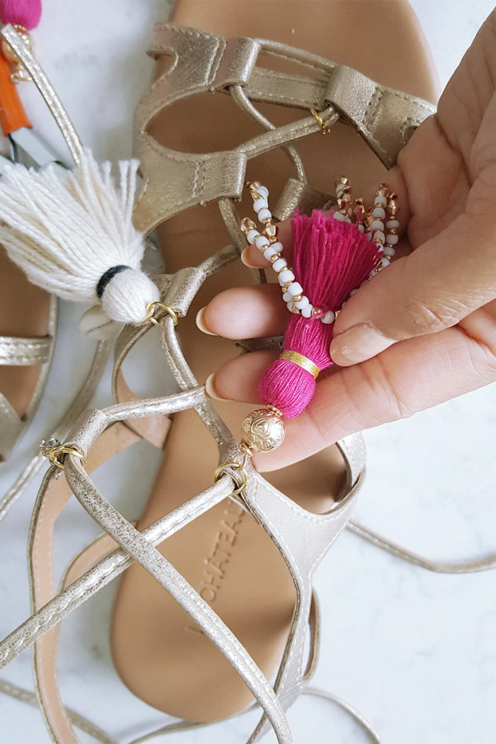 DIY Tassel Gladiator Sandals 1