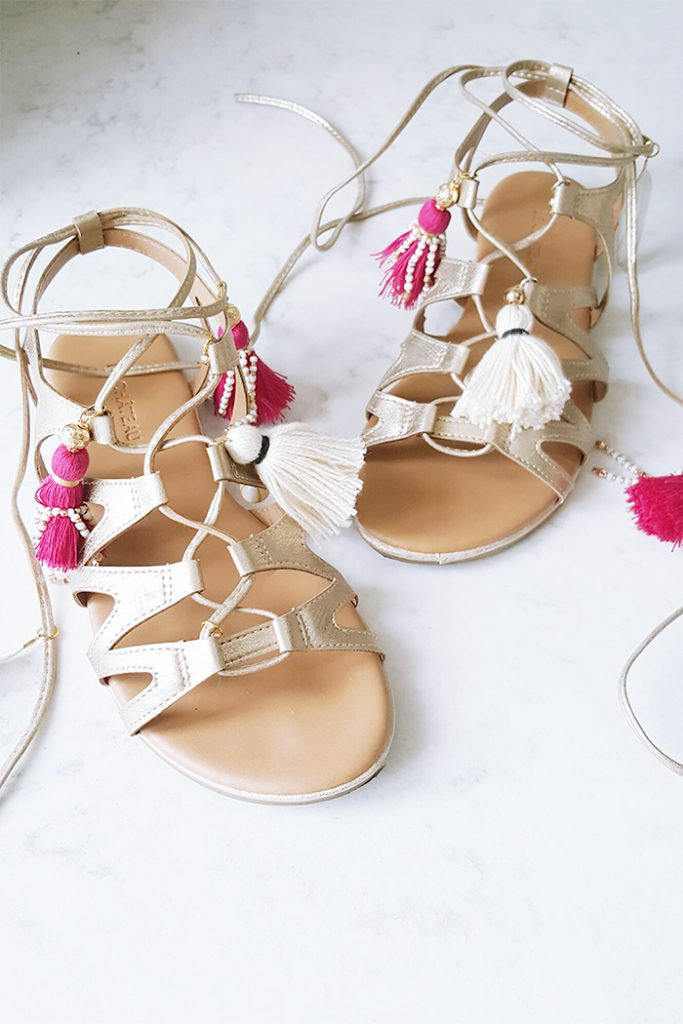 DIY :: Tasselled Gladiator Sandals