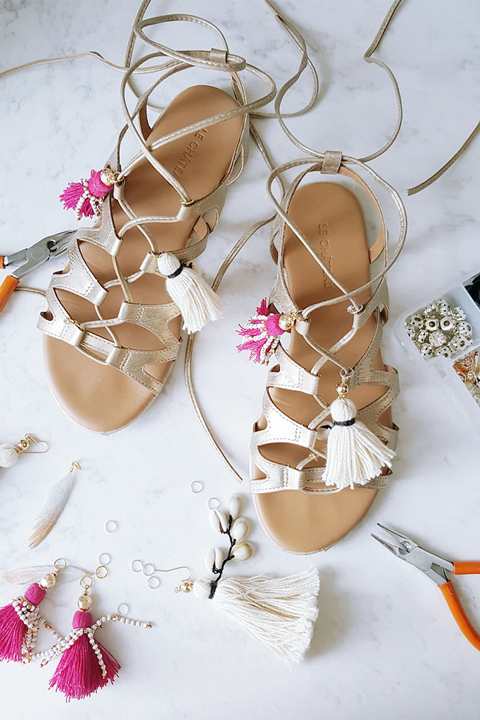 DIY Tassel Gladiator Sandals Le Chateau