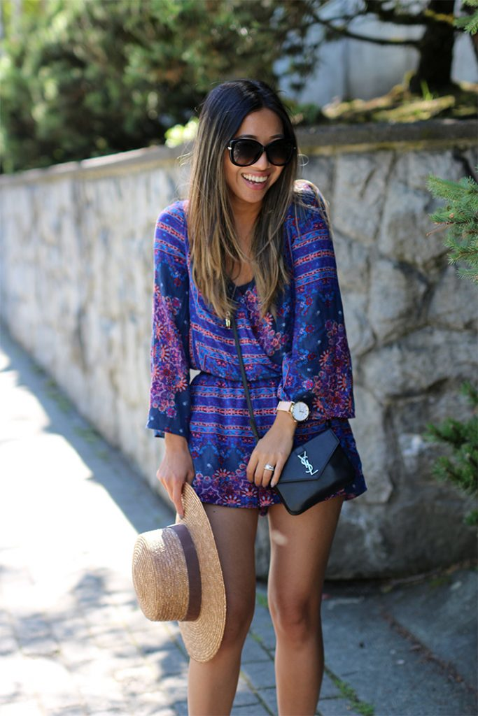 Purple Romper Outfit
