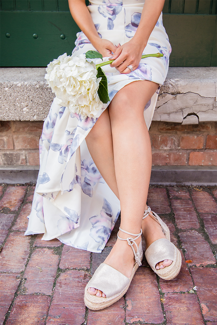 Shoeme Espandrilles and Floral Dress