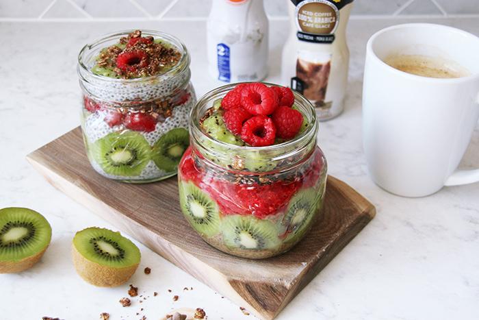 Natrel lactose Free Raspberry Kiwi Chia Pudding