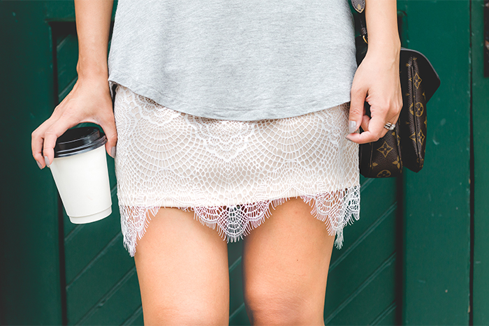 scalloped eyelash lace skirt