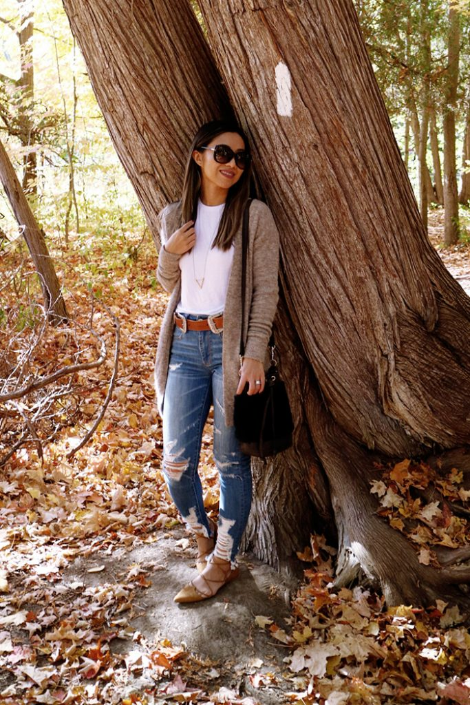 Outfit :: Fall Foliage {BRAVE Leather Giveaway}