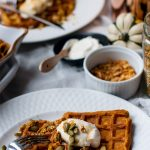 Food & Drink :: Thanksgiving Pumpkin Waffles Brunch