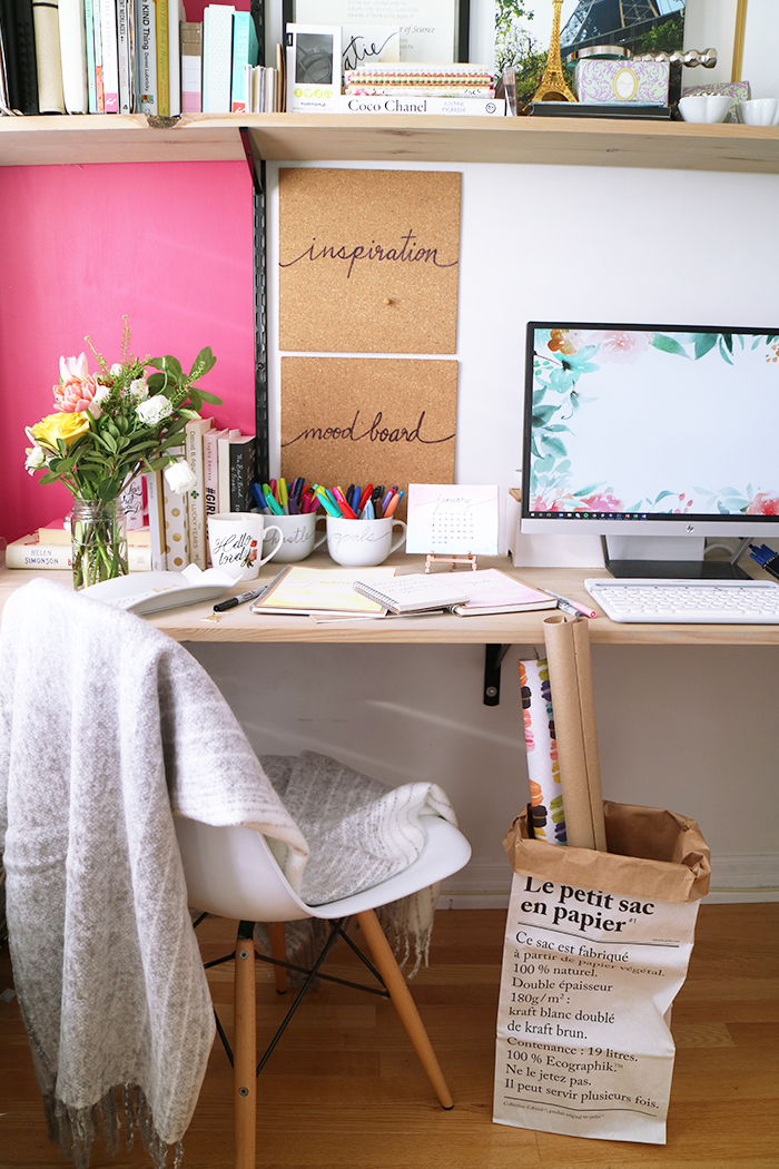 Diy sharpie watercolour journals and desk accessories Diy work desk
