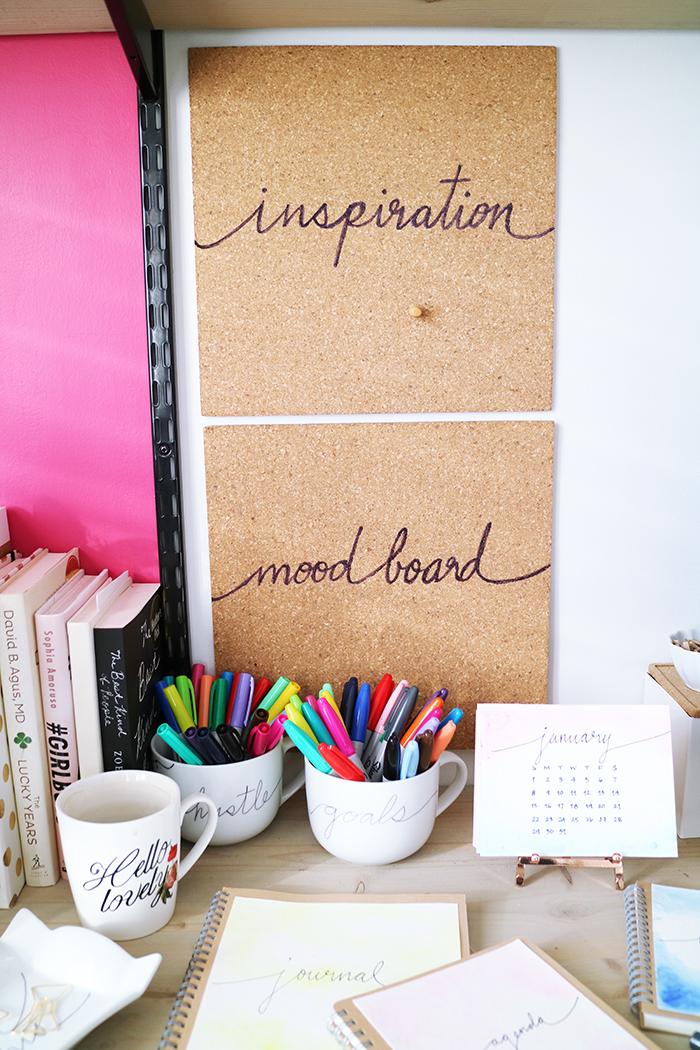 DIY Sharpie Cork Board