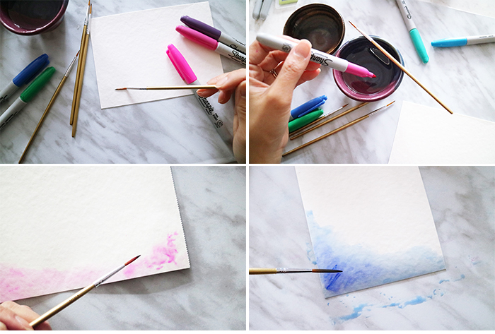 Sharpie Watercolor DIY