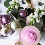 DIY :: Pastel Gold Foiled Easter Eggs & Pink Latte