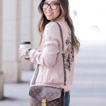 Outfit :: Floral Embroidered Bomber