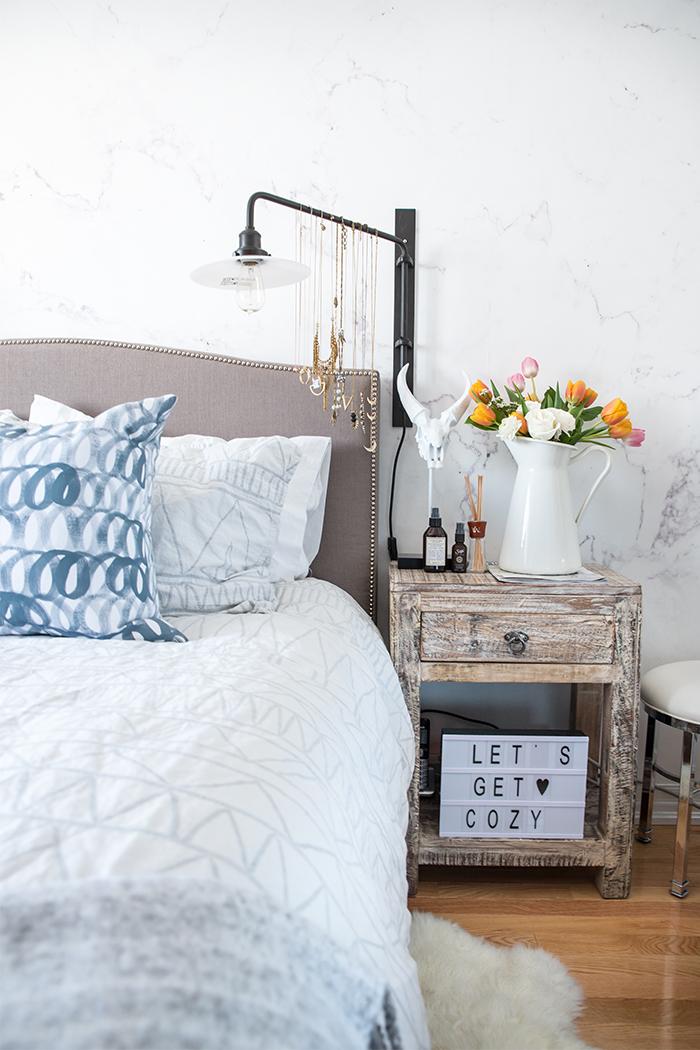 Marble Bedroom: Lifestyle :: Better Sleep & A Mini Bedroom Makeover