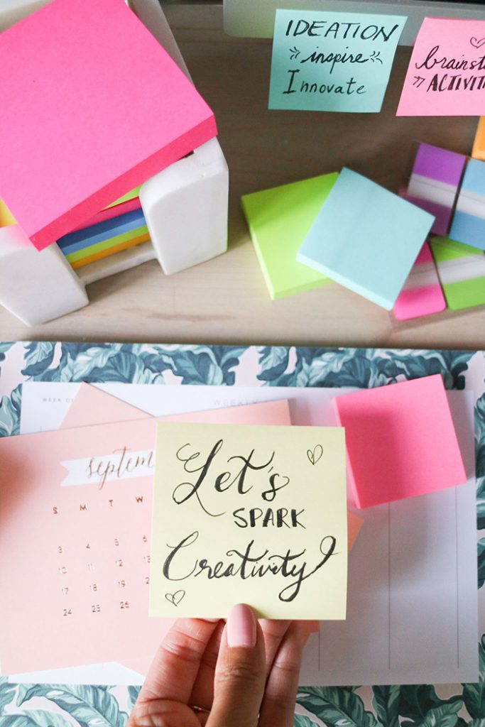 From My Desk :: Three Effective Brainstorming Activities to Spark Creative Thinking with Post-It® Notes