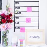 DIY :: Removable Dry Erase Weekly Wall Planner (Whiteboard)