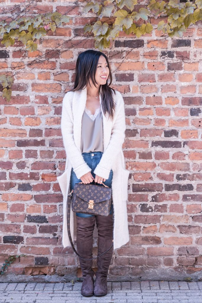 Outfit :: Cozy Longline Sweater & Over the Knee Boots
