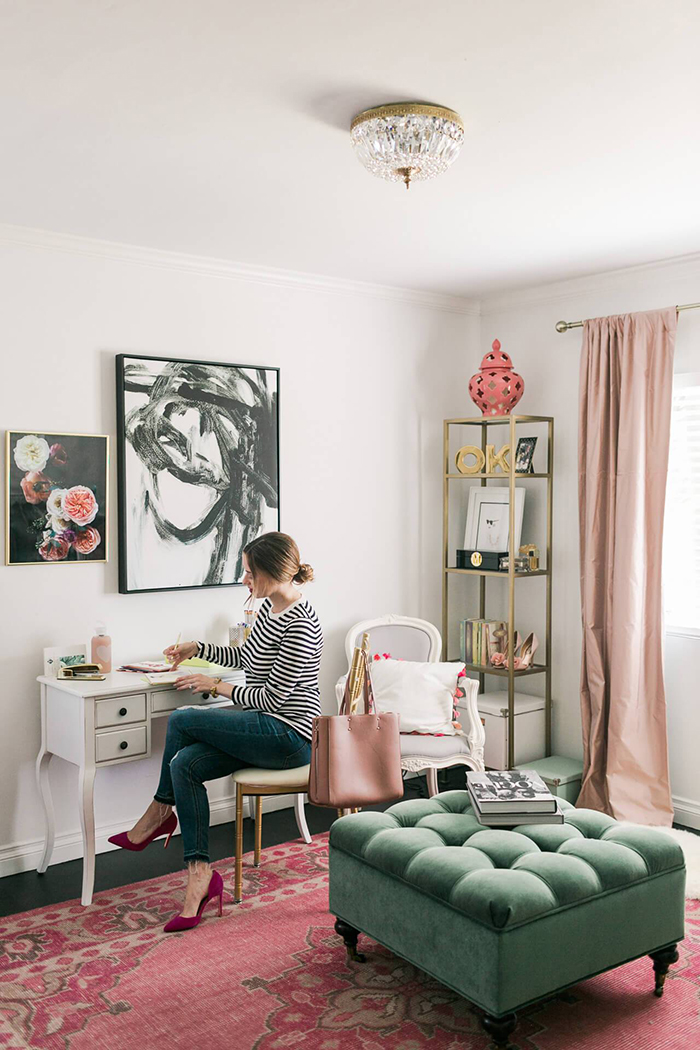 Home Amp Decor Teal Amp Pink Home Office Inspiration My
